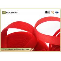Buy cheap 20mm Custom Red Hook Loop Tape Nylon Strength Sticky for Self - Locking from wholesalers