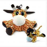 Buy cheap Puzzled 6 Inch Stuffed Baby Giraffe , Soft Big Eyed Stuffed Animals With Giraffe Keychain from wholesalers