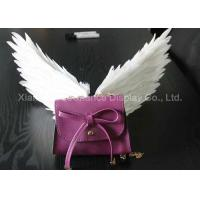 Buy cheap Mini Size Shop Display Christmas Decorations Handmade White Color Feather Wings from wholesalers