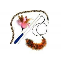 Buy cheap Multi Colors Cat Feather Teaser Wand , PVC Material Cat Stick Toy For Kitten from wholesalers