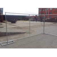 Buy cheap Hot Dipped Galvanized Portable Chain Link Fence Panels 60X50mm Mesh Size from wholesalers