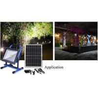 Buy cheap Portable rechargeable Led flood light with solar panel Garden lighting project  emergency light from wholesalers