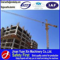 Buy cheap 1~8t load 60m work range QTZ6010 building tower crane from wholesalers