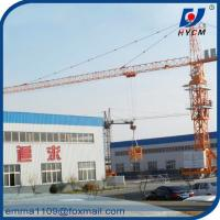 Buy cheap TC5010 Mobile Tower Crane 50m Working Booom and Rail Travel Base Type from wholesalers