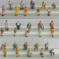 Buy cheap boutique 1:87 seated figures,scale figures,1/87 figures,model people,color HO figures,scale people,model train people from wholesalers