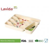 Buy cheap Heat Resistant Wood Flatware Tray Heavy Metal Free Anti - Bacteria Safe Contact With Food from wholesalers