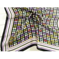 Buy cheap Ladies 2013 Fashion  100% silk small Square Silk Scarf/black scarves for women 53*53CM from wholesalers