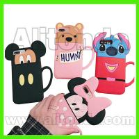 Buy cheap Custom pvc silicone cute cartoon figure animal phone case logo words can add from wholesalers
