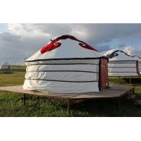 Buy cheap Floral Comfortable Yurt Tent House With National Features External Decorated Cloth from wholesalers