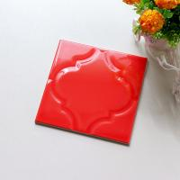 Buy cheap 200 X 200 Custom Made Handmade Ceramic Tiles Hand Glazed Subway Tile Red Color from wholesalers
