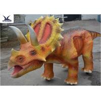 Buy cheap Coin Operated Large Ride On Dinosaur Animatronic Dinosaur Walking Ride On Car from wholesalers