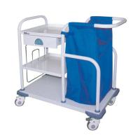 Buy cheap Laundry Collecting Medical Instrument Trolley For Hotel Hospital Carbon Steel Sprayed from wholesalers