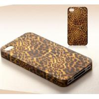 Buy cheap Leopard Leather Skin Cell Phone Covers Plastic Cover For Iphone 4/5G from wholesalers