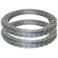 Buy cheap Hot dipped razor barbed wire Cross Razor Type Anti-rust razor blade barbed wire from wholesalers