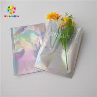 China Three Side Sealed Cosmetic Packaging Bag Laster Film Material Glossy Varnish Surface on sale