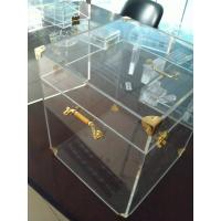 Buy cheap 4mm Acrylic Display Case Clear , Plexiglass Storage Boxes with Lids from wholesalers