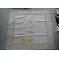 Buy cheap Handmade Hemstitch Party Linen Tablecloths , Full Sizes Large Linen Tablecloth from wholesalers