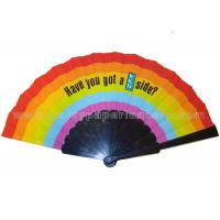Buy cheap Popular Printed Fabric Folding Fans , Personalized Hand Held Wedding Fans from Wholesalers
