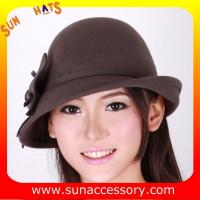 Buy cheap 0352 wool felt  coffee ladies hats for women,Shopping online hats and caps from wholesalers