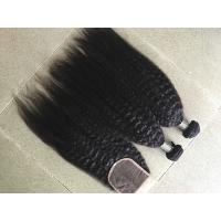 Buy cheap Coarse Yaki Real Peruvian Human Hair Weave Kinky Straight Hair Extensions from wholesalers