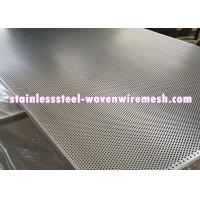 Buy cheap Stainless Steel Perforated Metal Sheet Round Hole High Temperature Oxidation Resistance from wholesalers