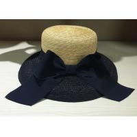Buy cheap Straw Braid Bowknot Womens Straw cowboy Hats 57cm with Straw Braid from wholesalers