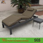 Buy cheap Outdoor Patio Rattan Sun Loungers , Balcony Rattan Sun Lounger from wholesalers