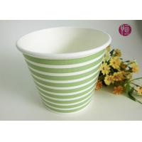 Buy cheap Green Cross Stripe Flower Paper Pot For Plant , Paper mache flower pot from wholesalers