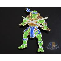 Buy cheap Custom Logo Ninja Turtle Zinc Alloy Metal Lapel Pin Bages, Cut Out Stye Shiny Gold Plating With Rupper from wholesalers
