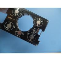 Buy cheap Aluminum PCB With HASL Single Sided Metal Core PCB 1.6mm thick and black soldermask from wholesalers