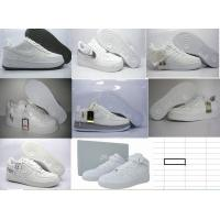 Buy cheap nike sneakers, sport shoes,   air force ones in all white from wholesalers