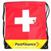 Buy cheap Promotional Polyester or Nylon Drawstring Bag/Backpack, Small Order Quantity are Welcome product