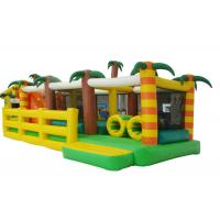 Buy cheap Coconut Tree Inflatable Bouncy Obstacle Course , Outdoor Playground Blow Up Bounce House Race from wholesalers