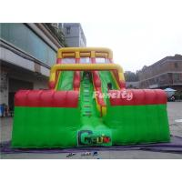 Buy cheap Commercial 0.55mm PVC tarpaulin Double Lane Inflatable Toys Dry Slide for Kids and Adult from wholesalers