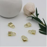 Buy cheap OEM design bag making accessories fashion light gold decorative metal lock parts from wholesalers