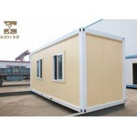 Buy cheap Yellow Prefabricated Container House , Shipping Container Prefab For Temporary House from wholesalers