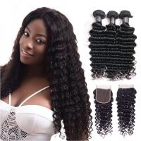 Buy cheap 30 Inch Deep Wave Peruvian Hair / 100 Remy Human Hair Weave Shedding - Free from wholesalers