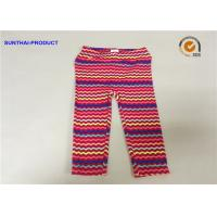 Buy cheap No Side Seam Cute Baby Girl Leggings 95% Cotton 5% Spandex Jersey With Sea Waves Printed from wholesalers
