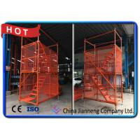 Buy cheap Galvanized Construction Building Steel Ladder Cage / Metal Scaffolding Ladder Cage from wholesalers