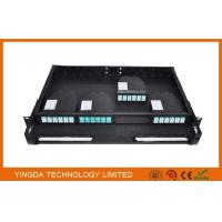Buy cheap 96 Cores 1U MPO Patch Panel / Enclosures 4 bays wide 24 LC ports3 MPO APC (x8) input SMF from wholesalers