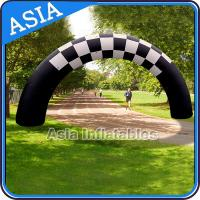 Buy cheap Beautiful Welcome Inflatable Arch Door With Black And White Color For Park from wholesalers