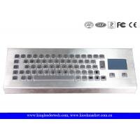 Buy cheap Rugged Stainless Steel Industrial Desktop Keyboard PS/2 Or USB Interface With 65 Keys from wholesalers