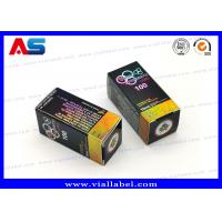 China Full Color 10ml Vial Boxes / Paper Packaging Medicine Storage Box Hologram Printing on sale