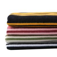 Buy cheap 100% Thick Cotton Flannel Stripe Fabric For Winter Coat from wholesalers