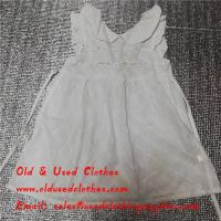Buy cheap Used Kids Clothes Used Ladies Dresses Old Fashioned Dresses White Color from wholesalers