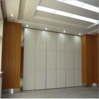Buy cheap School Operable Movable Doors Sliding Folding Wood Partitions Wall On Wheels With Storage from wholesalers