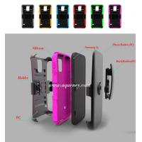 Buy cheap Mobile phone case: upper cover and lower cover+leather wrapped+silicone+holster cover from wholesalers