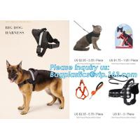Buy cheap BIG DOG HARNESS, Custom Logo Nylon Rope Pet Dog Leash and Harness Set, size/logo/color no pull easy walk puppy big Dog H from wholesalers
