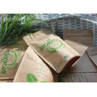 China Earth Friendly Compostable Standing Up Pouch PLA Lined Paper Bio Bags on sale
