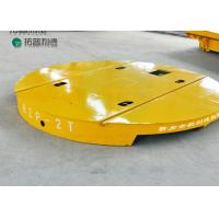 Buy cheap Dia 4m railway electric turntable matching flat rail trolley in painting room from wholesalers